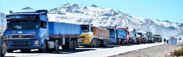 Camiones en frontera
